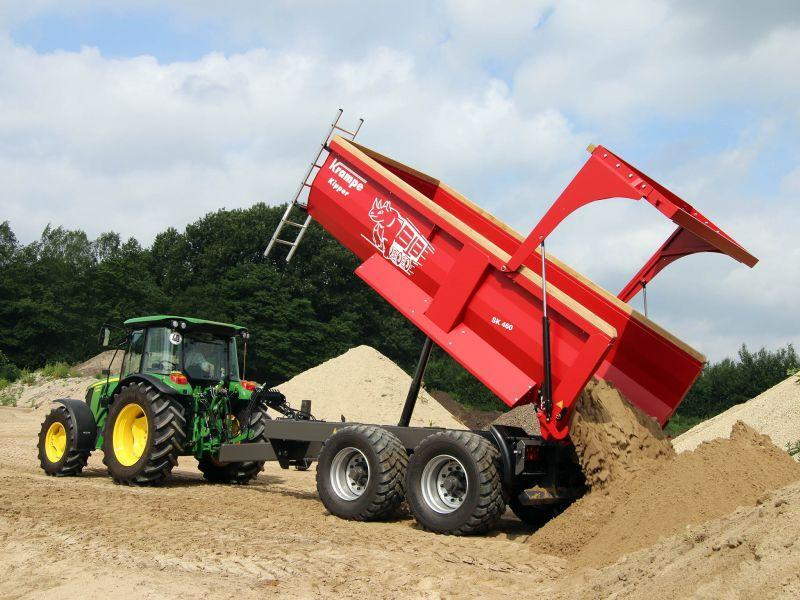 Krampe lanserer ny dumperhenger for mindre traktorer. (Foto: Produsenten)