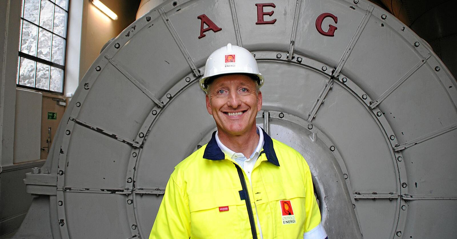 Oddmund Kroken er administrerende direktør i Østfold Energi. Foto: Lars Bilit Hagen