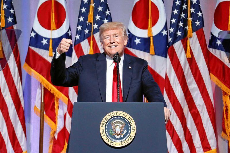 USAs president Donald Trump har inspirert Frp, mener innsenderen. Foto: John Minchillo / AP / NTB scanpix