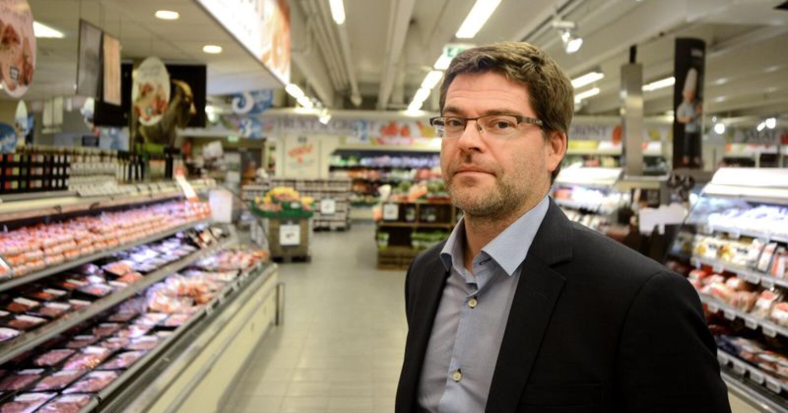 Kommunikasjonssjef Harald Kristiansen i Coop Norge fikk gjennomgå da han ble kontaktet av frustrerte bønder. Foto: Siri Juell Rasmussen