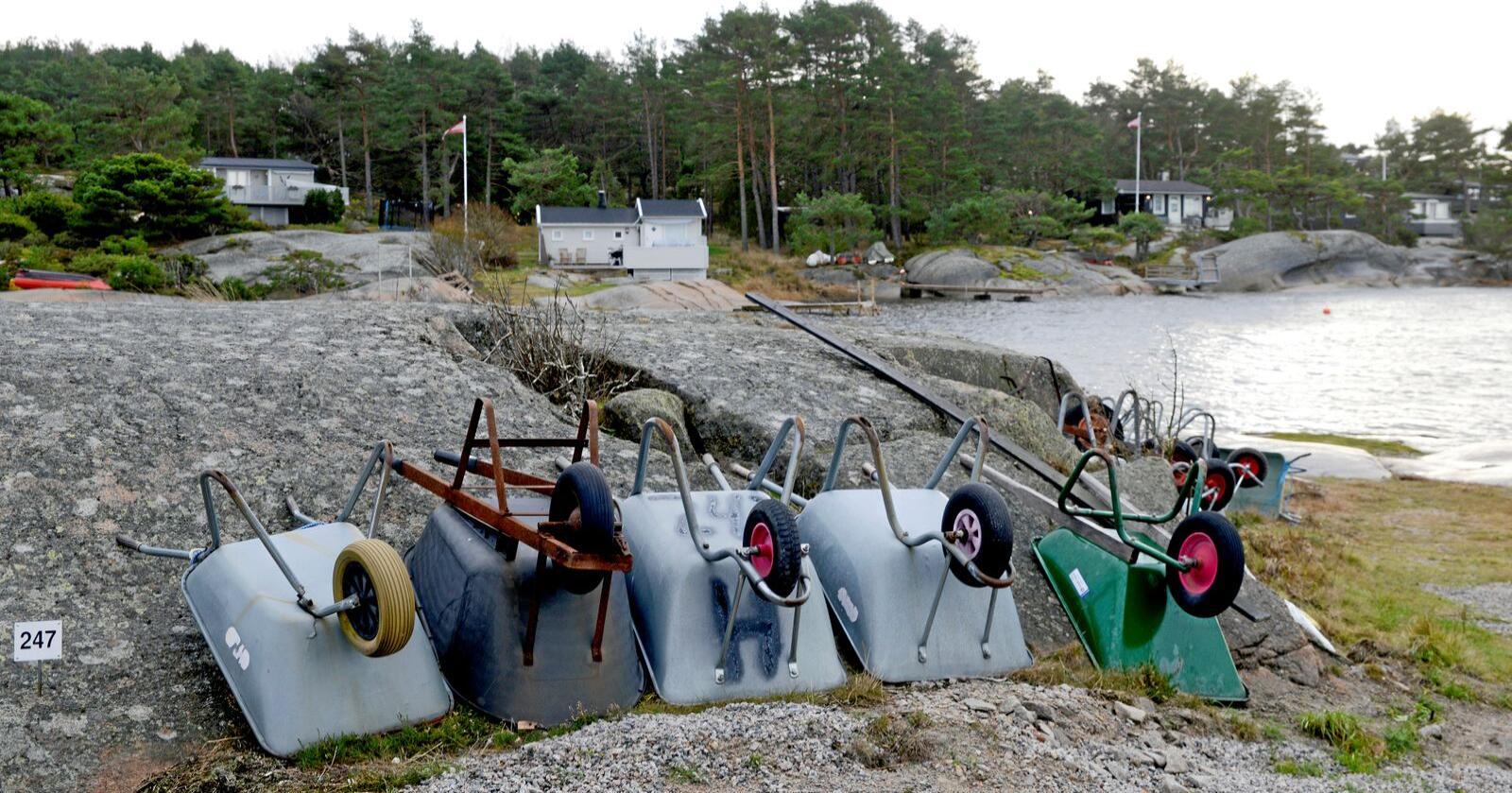 Hvaler kommune har 4300 fritidsboliger. Foto: Mariann Tvete