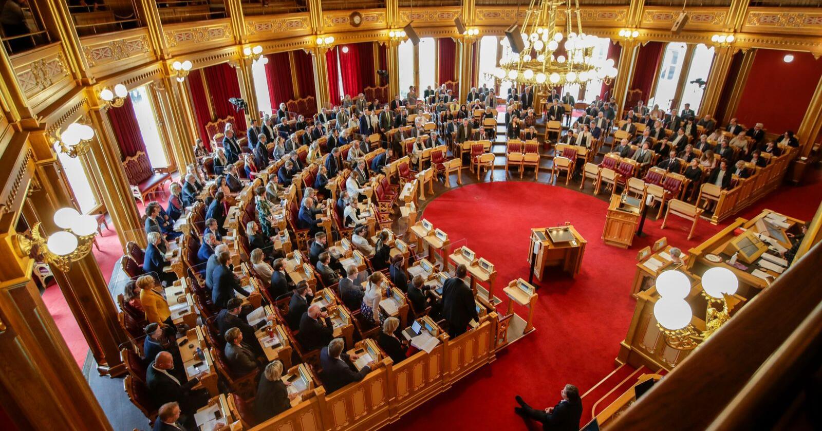 Både Stortinget og regjeringen får økt tillit i årets Tillitsbarometer. Foto: Vidar Ruud / NTB scanpix