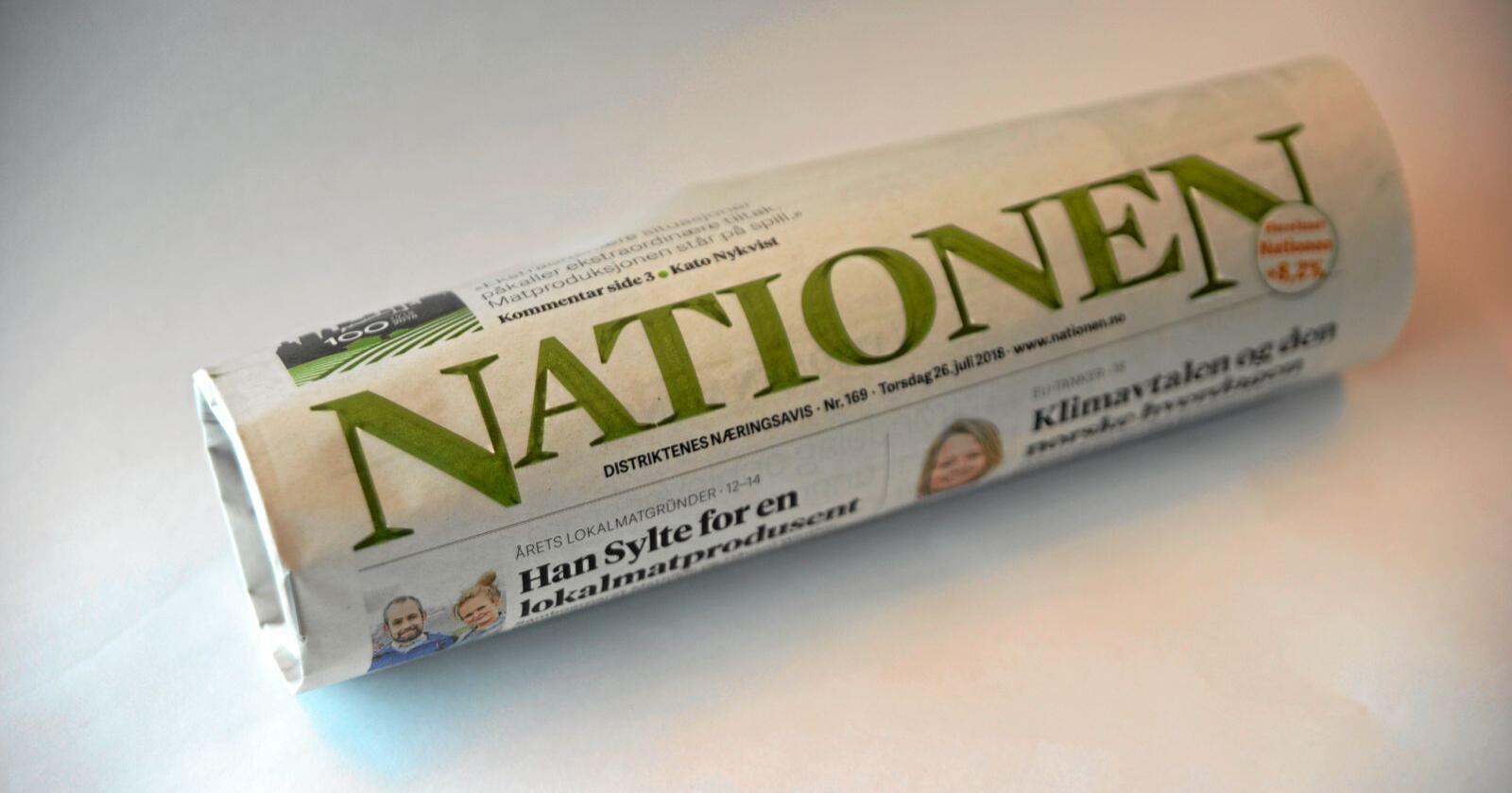 Knapt noko anna politisk parti har blitt tilgodesett med ei heil avisutgåve på ein av dei runde åremålsdagane sine, skriv Jon Ingebrigtsen om Nationens dekning av Senterpartiets jubileum. Foto: Mariann Tvete