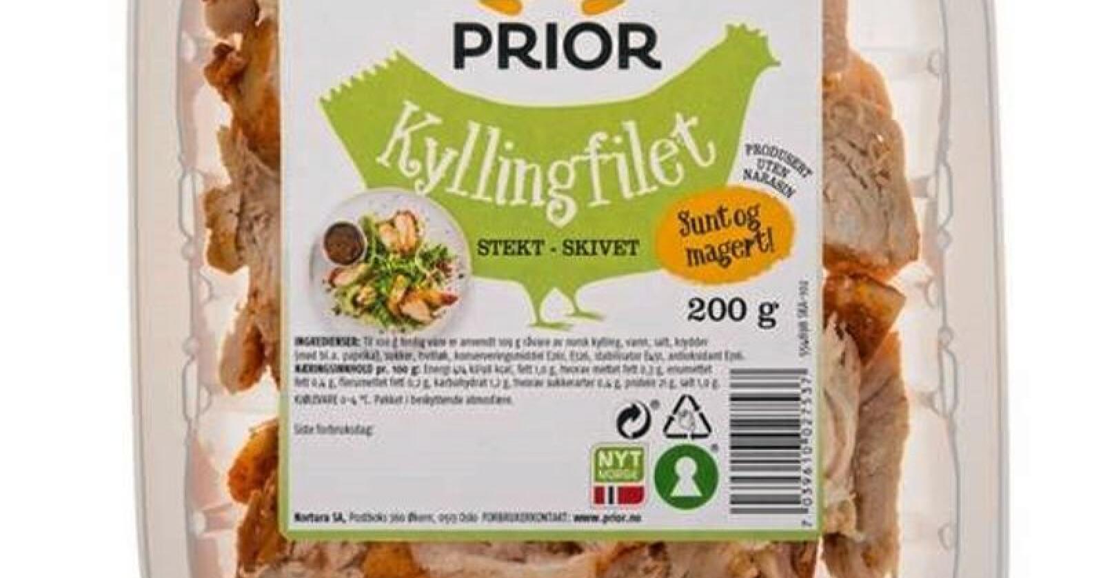 Tilbakekaller kyllingfillet på grunn av feil datomerking. Produktbilde: Nortura