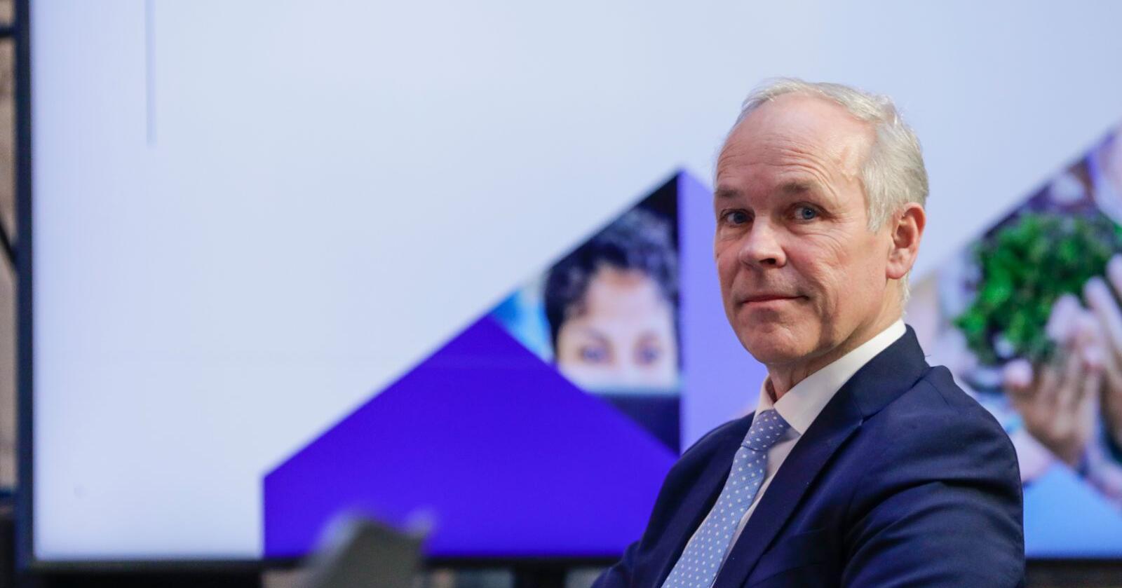 Finansminister Jan Tore Sanner (H) la fredag fram regjeringens perspektivmelding. Foto: Berit Roald / NTB