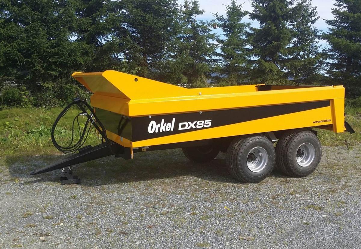 Orkel opprettholder posisjonen som markedsleder i Norge, blant annet takket være den nye lettdumperen DX 85 som ble introdusert på Dyrsku'n i fjor høst. (Foto. Orkel)