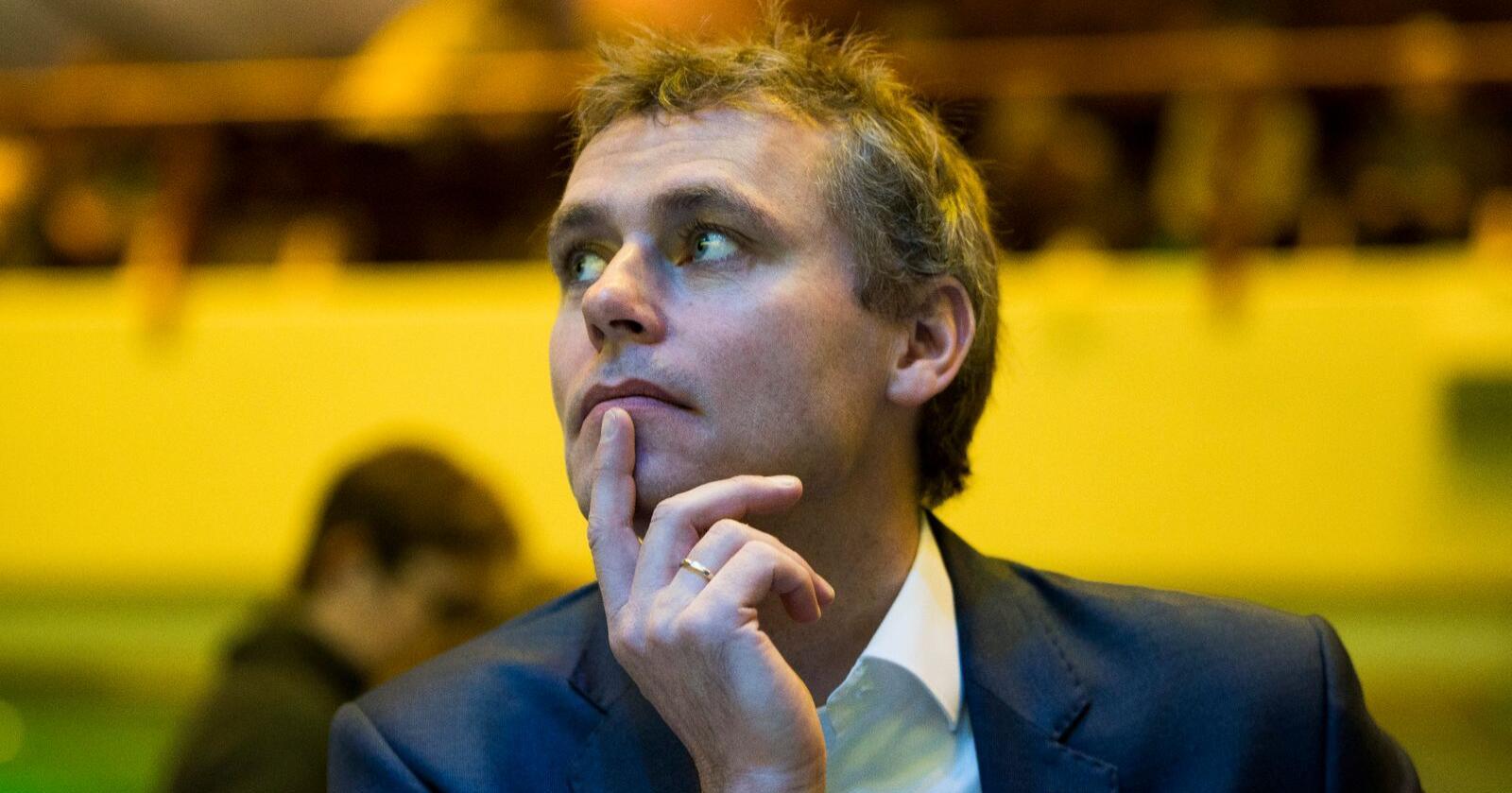 Ola Borten Moe, i dag nestleder i Senterpartiet, var olje- og energiminister i den rødgrønne regjeringen da Barentshavet sørøst ble åpnet for oljeboring. Foto: Terje Pedersen/NTB scanpix