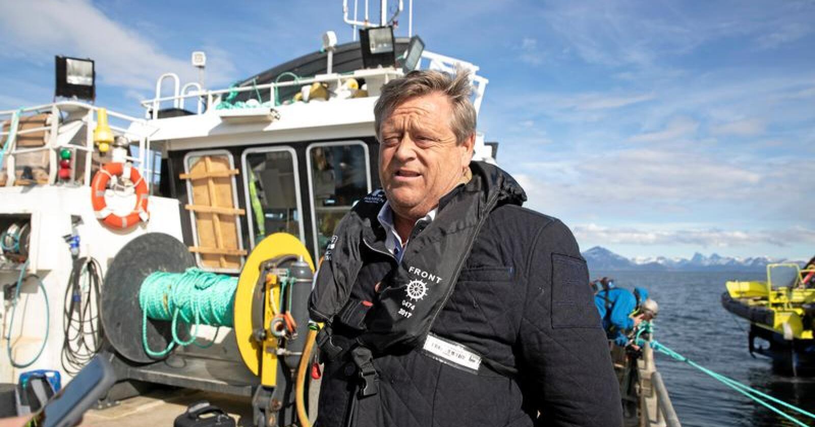 I september drar fiskeriminister Harald T. Nesvik til Storbritannia for å møte sin britiske kollega. Foto: Berit Roald / NTB scanpix