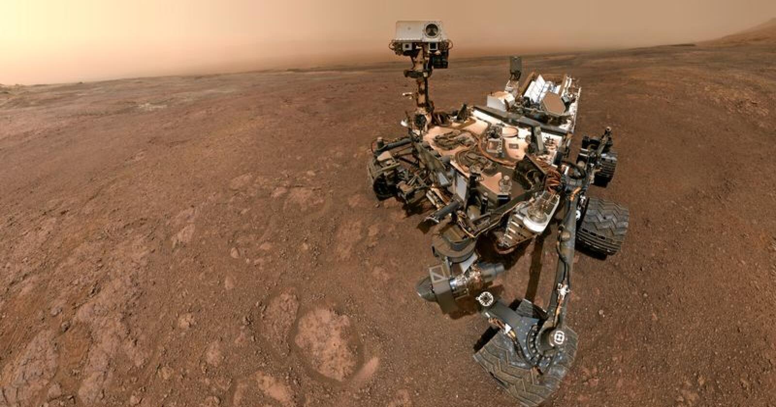 Mennesket har allerede sendt roboter til Mars, men foreløpig ingen bønder. Foto: Unity Rover, Nasa