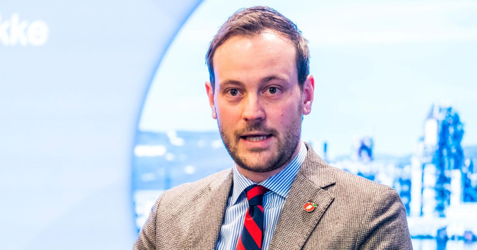 Næringspolitisk talsperson i Fremskrittspartiet, Sivert Bjørnstad. Foto: Håkon Mosvold Larsen / NTB