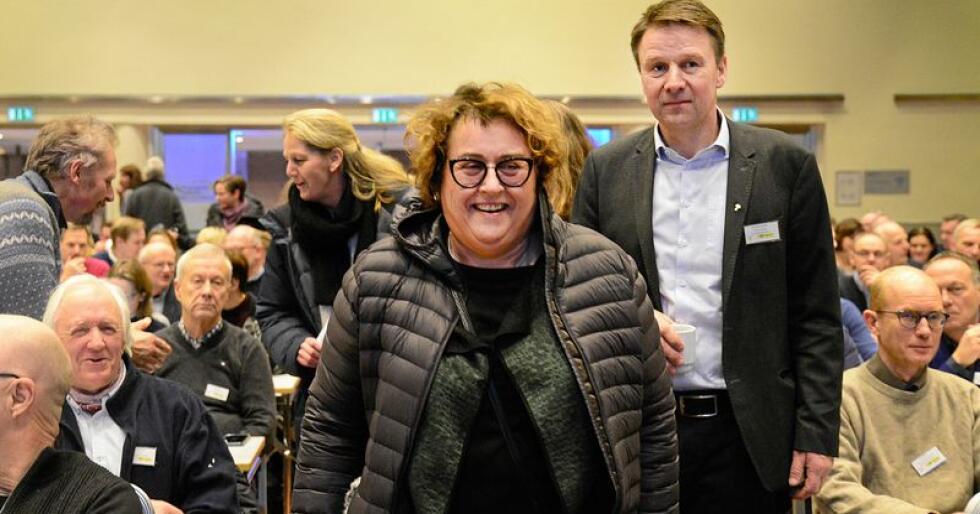 Landbruks- og matminister Olaug Bollestad skal forhandle blant annet med leder i Bondelaget, Lars Petter Bartnes. Foto: Siri Juell Rasmussen