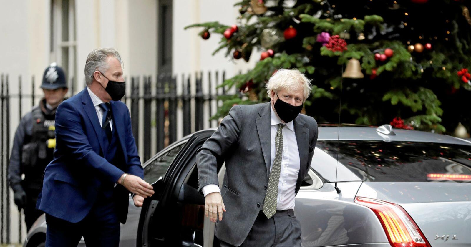 Ny begynnelse: Statsminister Boris Johnson slår fast at brexit ikke avslutter britenes forhold til EU, men sørger for en ny begynnelse. Foto: AP Photo/Matt Dunham, NTB