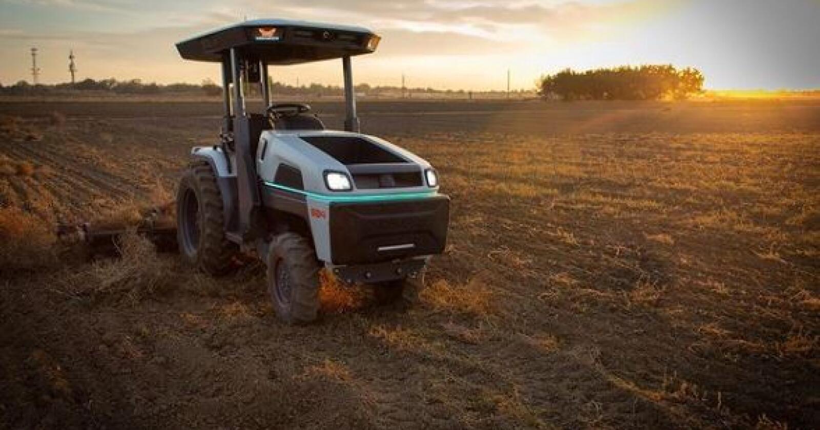 Autonom: Monarch har utviklet en selvkjørende, helt elektrisk traktor. Nå kjøper CNH seg inn i selskapet.