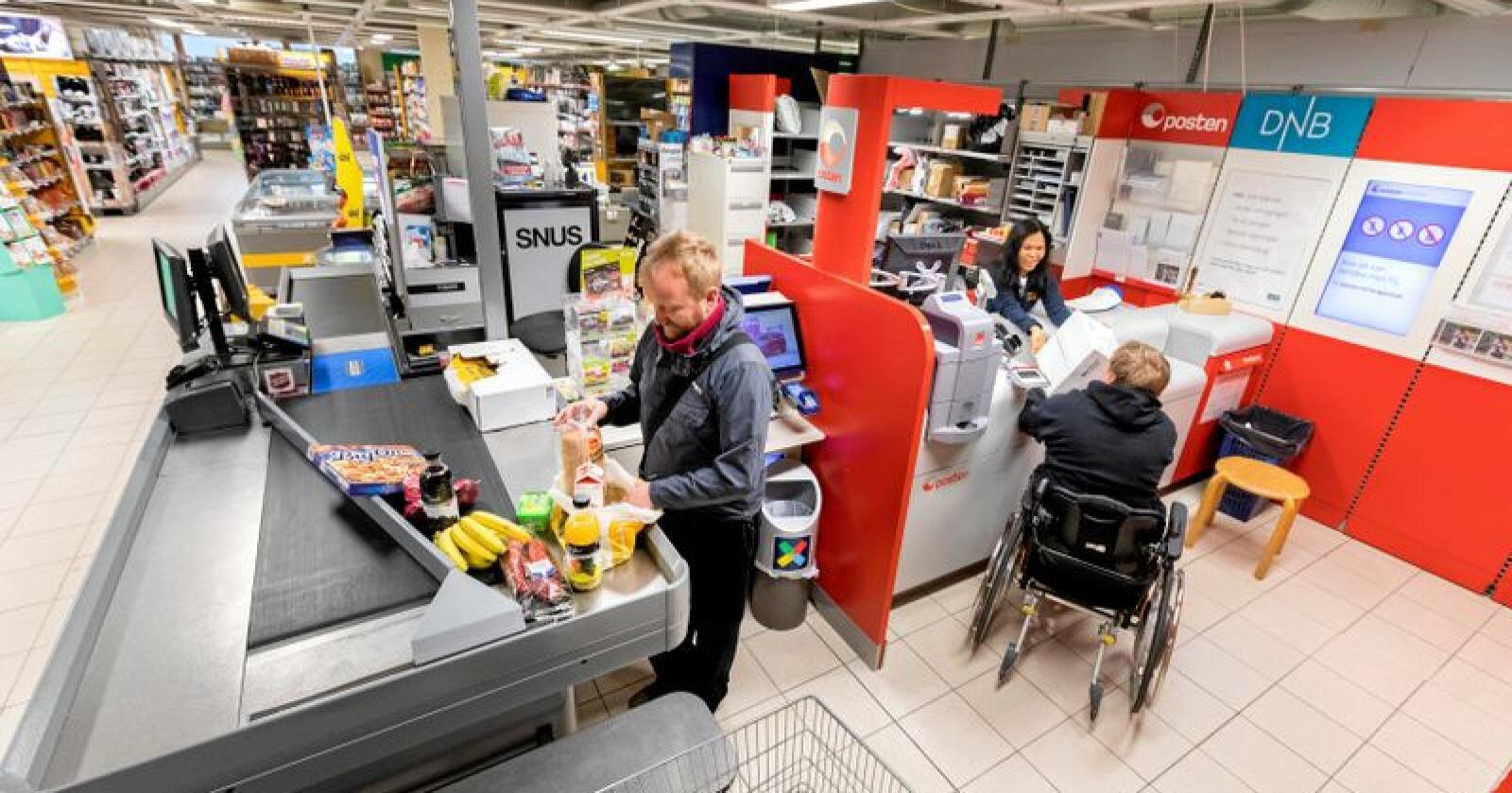 Matprisar: Dei siste 12 månadane har matprisane berre auka med 0,4 prosent, mot den generelle prisveksten på 2,6 prosent. Foto: Gorm Kallestad / NTB scanpix/ NPK