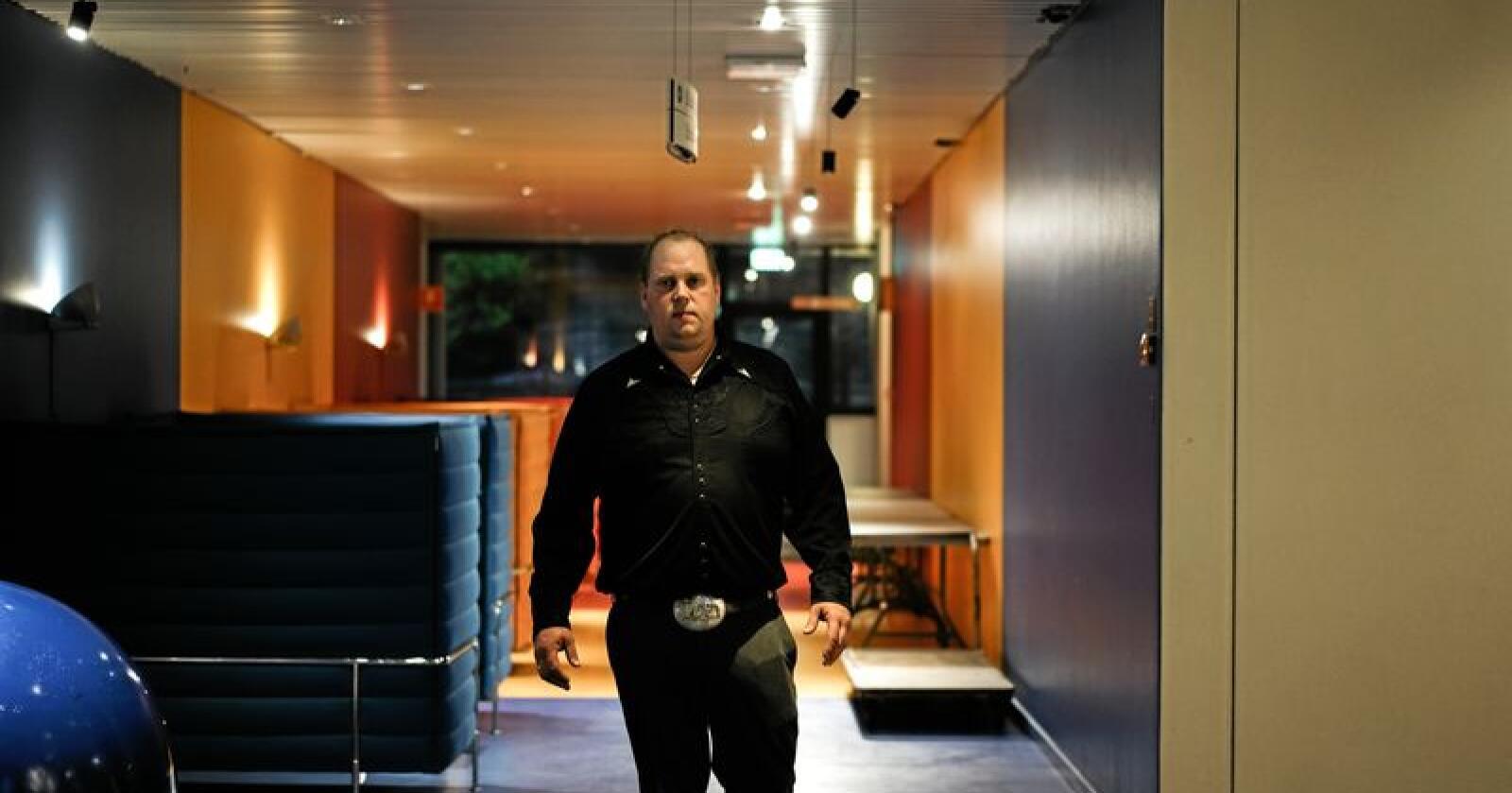 Avslørte skandale: Pelsdyrbonde Per Olaf Lauvås avslørte, via video og telefonopptak, hvordan Mattilsynet innrømmet feilrapportering etter et tilsyn på gården hans. Foto: Benjamin Hernes Vogl