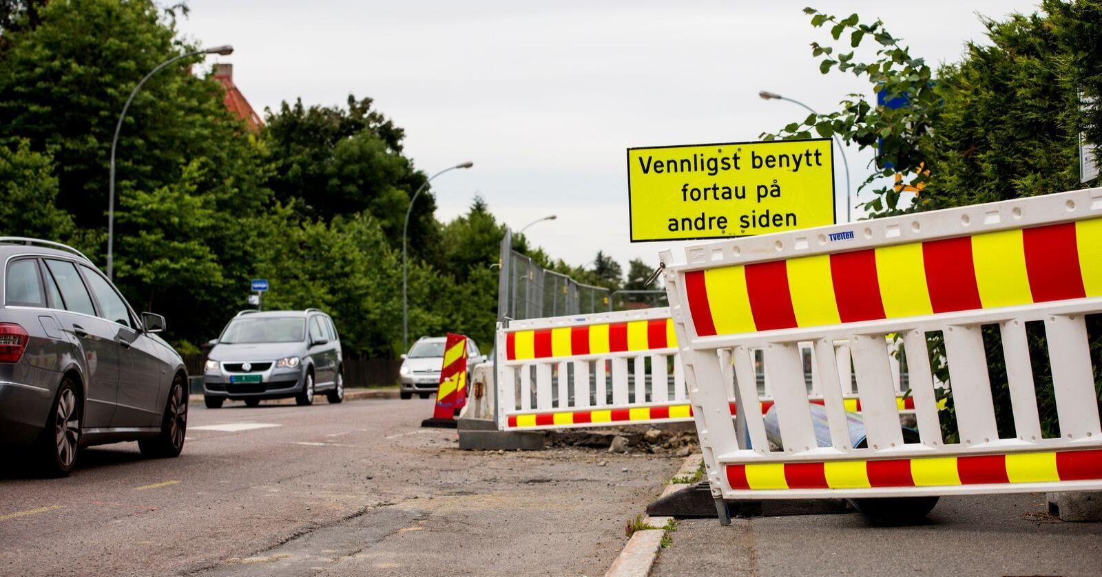 Kommunenes utgifter til vei økte i fjor. Foto: Fredrik Varfjell / NTB scanpix