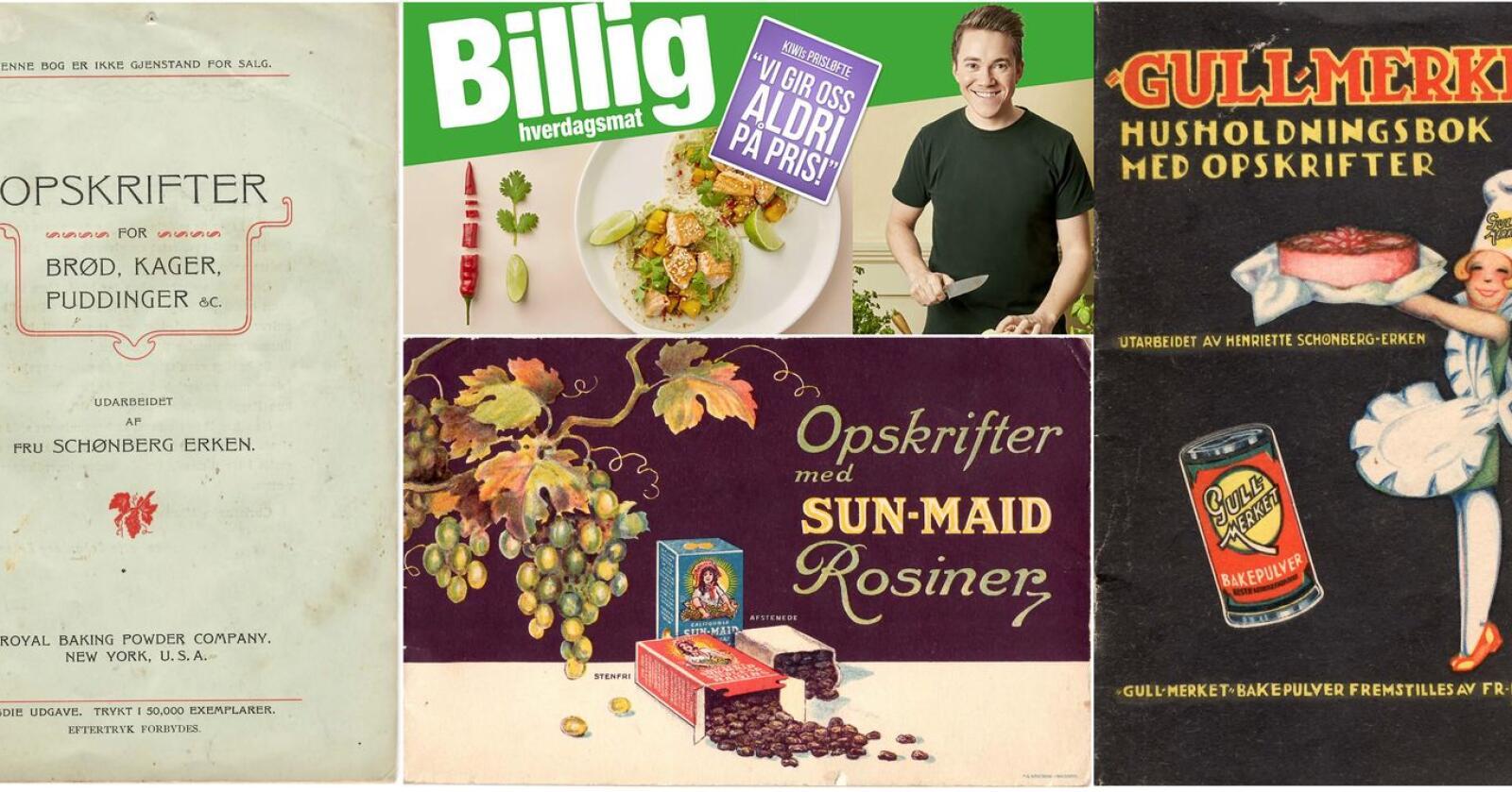 I godt selskap? Christer Rødseth figurerer på reklamemateriell for Kiwi. For nesten hundre år siden gjorde «hele Norges husmor» Henriette Schønberg Erken reklame for margarin og bakepulver.