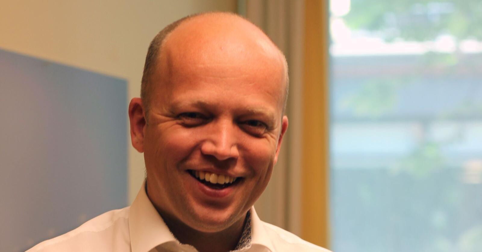 Partileder Trygve Slagsvold Vedum (Sp) i forkant av landsmøtet. Foto: Tone Magni Finstad Vestheim