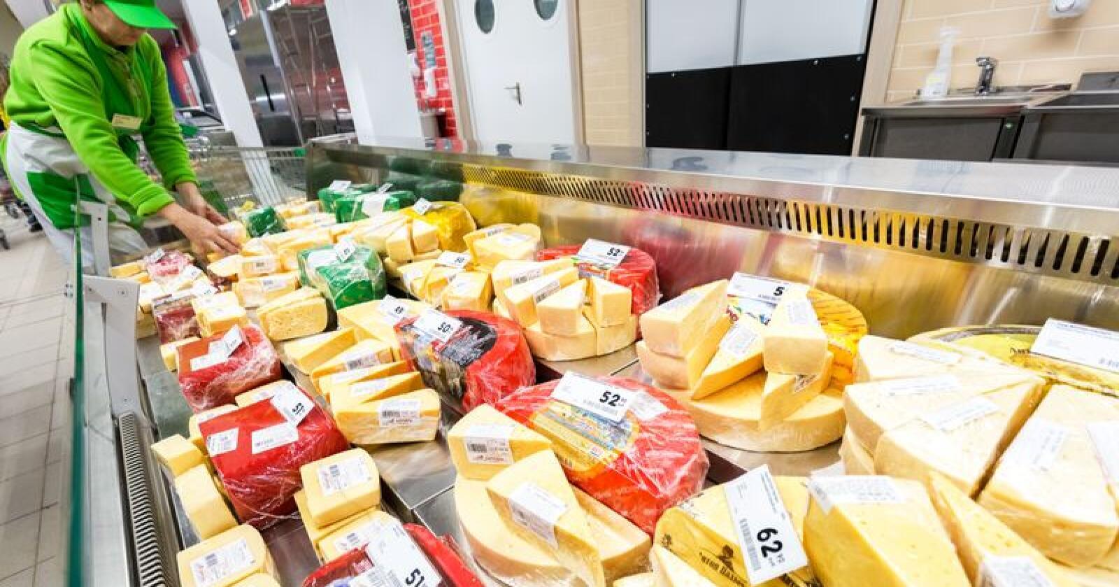 Norges import av landbruksprodukter øker stadig – ikke minst på ostesiden. Foto: Alexander Blinov/Mostphotos