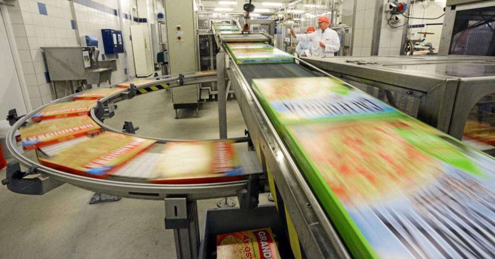 Importandelen for industrielt bearbeidede matvarer nærmer seg 40 prosent. Orklas Grandiosa får større konkurranse fra utlandet. Foto: Siri Juell Rasmussen