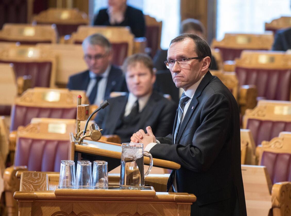 Arbeiderpartiets energipolitiske talsperson Espen Barth Eide tror frykten for høyere strømpriser er hovedårsaken til motstanden mot energiunionen. Foto: Vidar Ruud / NTB scanpix