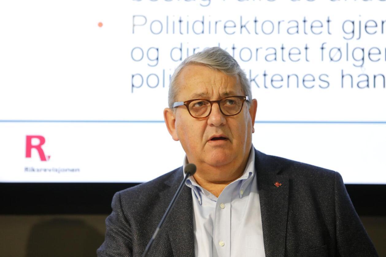 Riksrevisor Per-Kristian Foss presenterte den årlige revisjon- og kontrollrapporten tirsdag. Foto: Ole Berg-Rusten / NTB scanpix