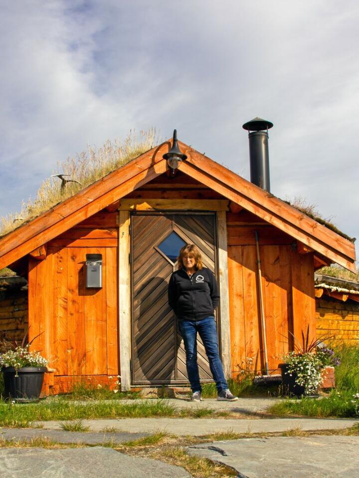 Koia sto klar allerede før Eva og mannen bestemte seg for å leve helt av reindriften. Foto: Vilma Taubo