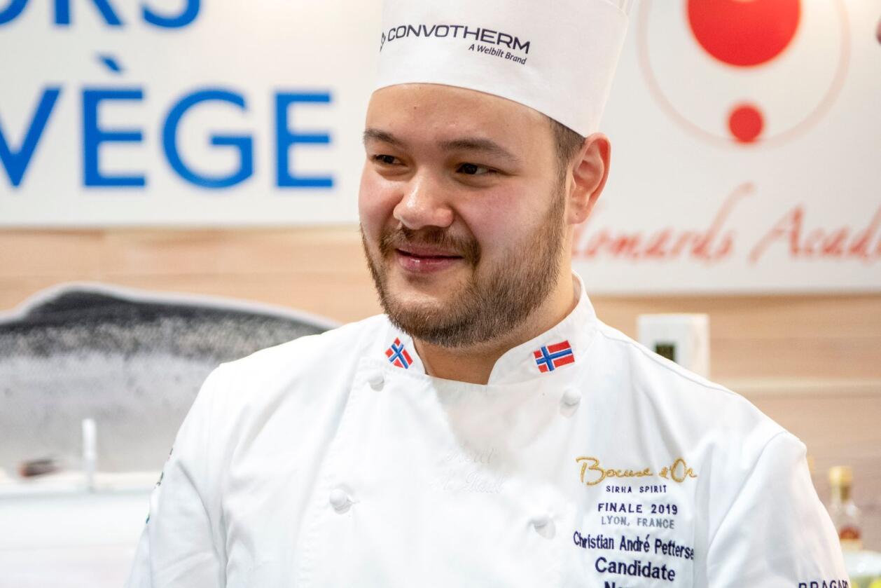Lyon, Frankrike 20190130.Christian André Pettersen representerer Norge i kokkekonkurransen Bocuse d'Or i Lyon. Foto: Johan Falnes / NTB
