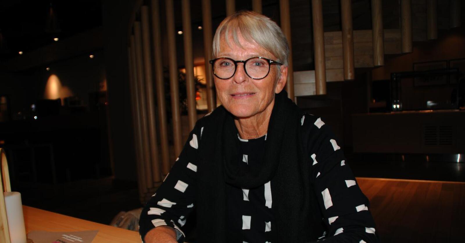 Tidligere kulturminister og stortingsrepresentant for Sp, Anne Enger, ble kjent som «nei-dronninga» under EU-kampen. Nå håper hun på en flertallsregjering med Sp, Ap og SV. Foto: Lars Bilit Hagen