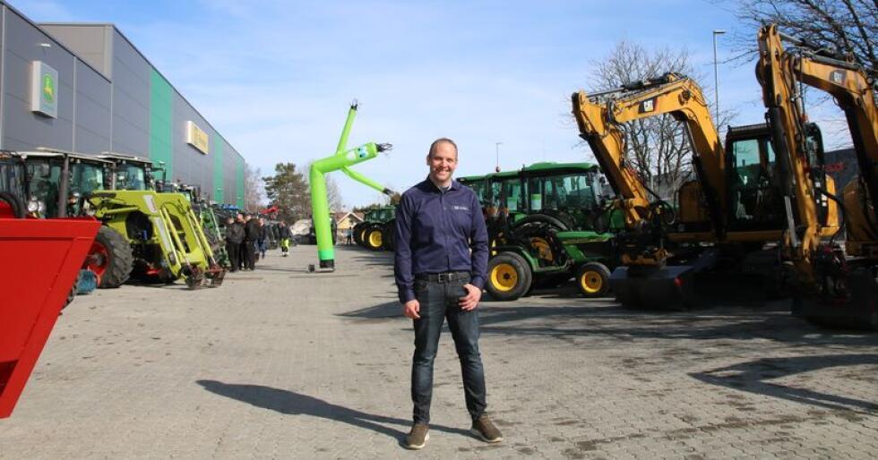 Kenneth Strand er ansvarlig for det nye bruktsenteret på Kløfta (foto: Lars Raaen)