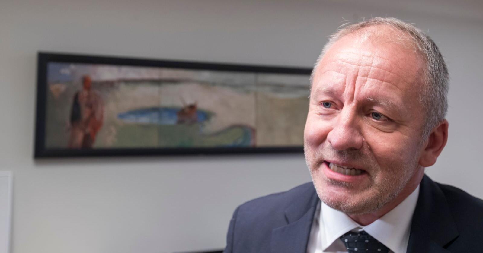 Geir-Inge Sivertsen (H) tok over som fiskeriminister etter Harald T. Nesvik (Frp) 24. januar. Foto: Terje Pedersen / NTB scanpix