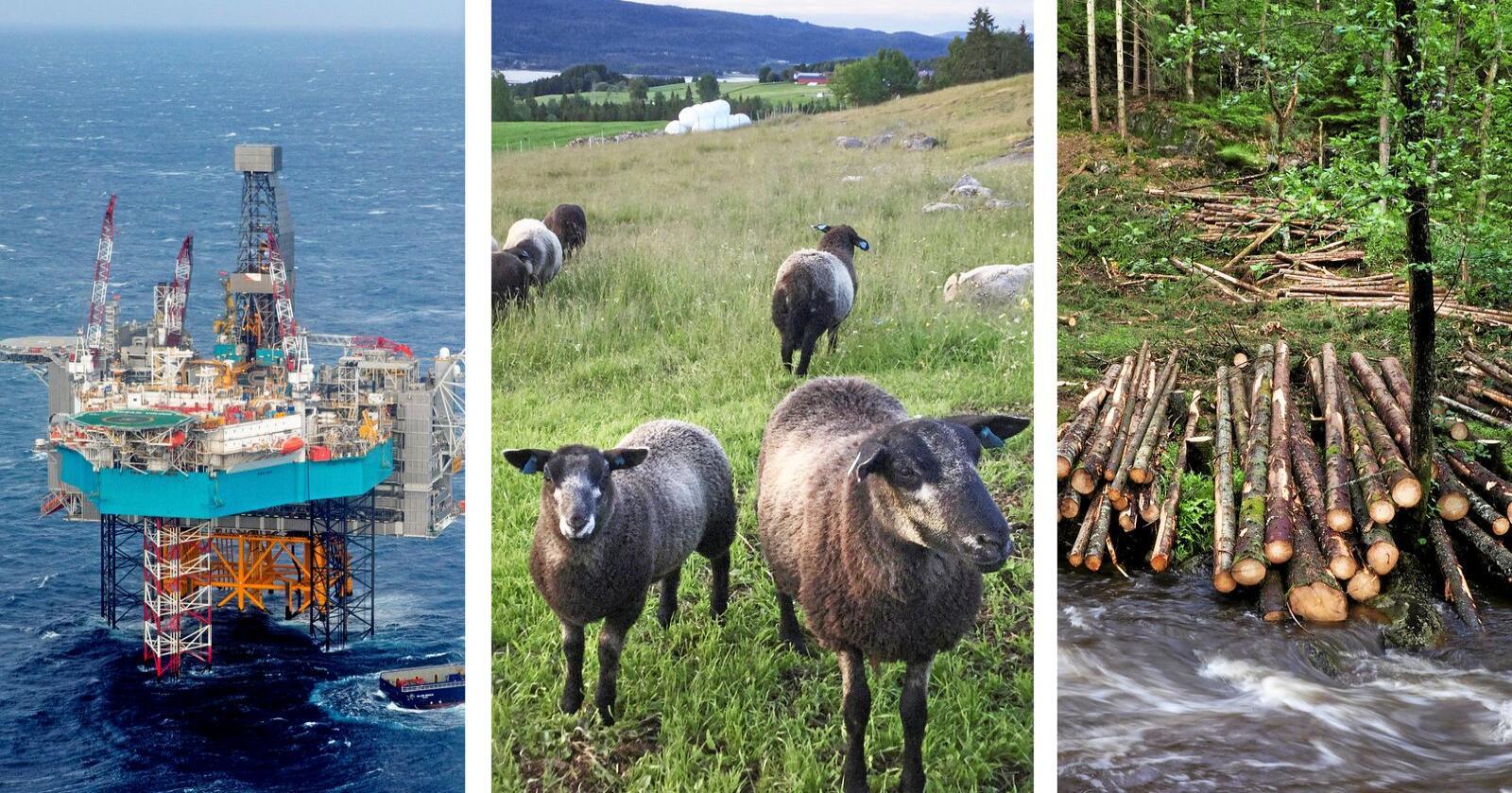 Sps Ola Borten Moe opplever at næringer som baserer seg på naturressurser opplever stadig større press. Foto: Mosvold Larsen (NTB scanpix)/Tvete/Juell Rasmussen