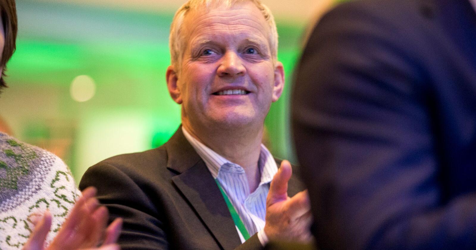 Stortingsrepresentant Nils T. Bjørke (Sp) var leiar i Norges Bondelag i 2014. Han meiner dagens økonomiske problem for bønder skriv seg frå endringane som då vart gjort. Foto: Terje Pedersen / NTB