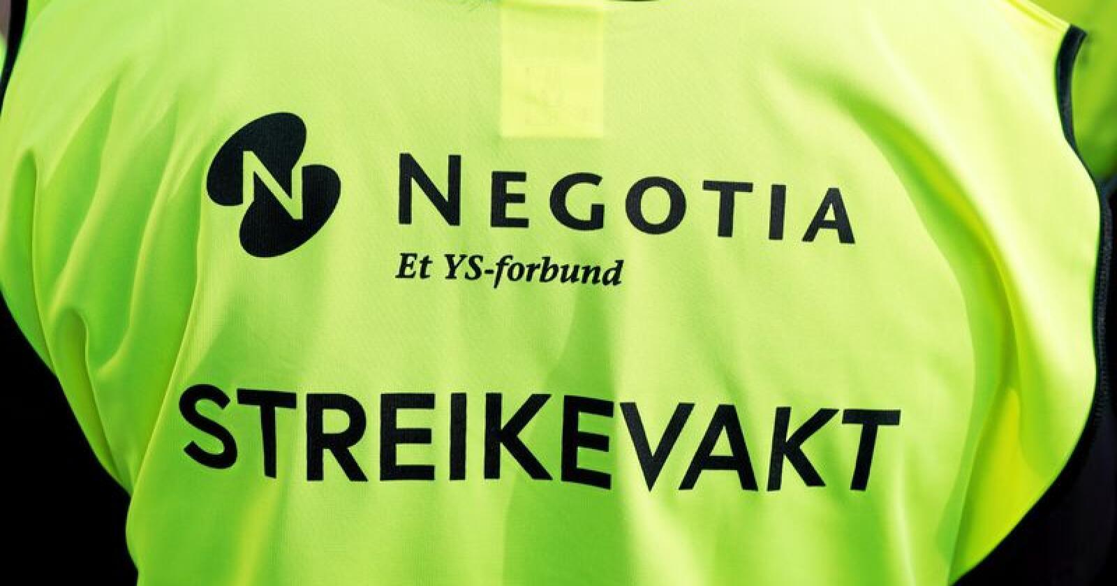 Negotia streiket for at de ansatte skulle få beholde tariffavtalen de har gjennom Spekter til neste tariffoppgjør hvor NHO sitter på motsatt side av bordet. Foto: Berit Roald / NTB scanpix