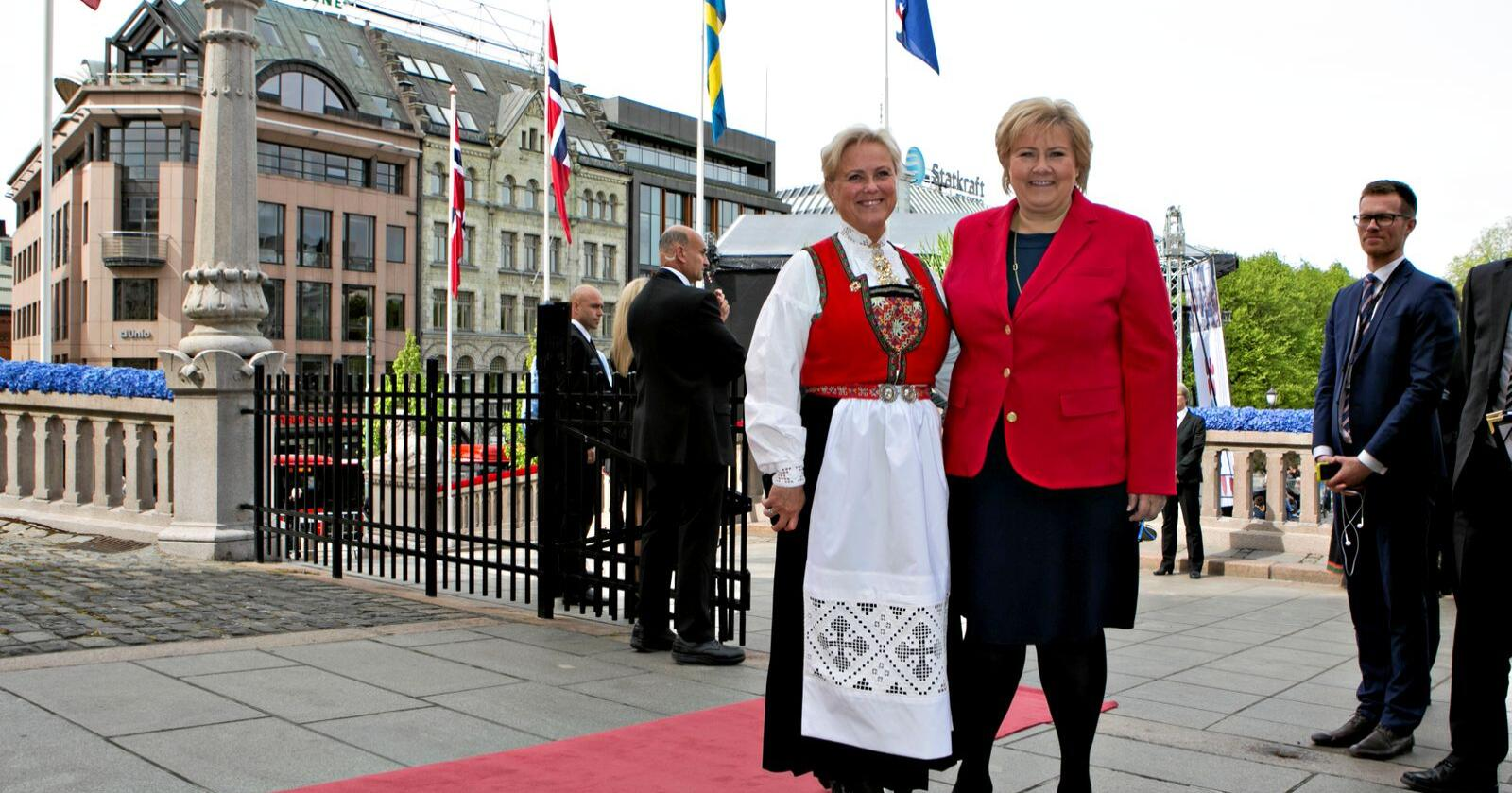 Salderingspost: Når Erna Solberg skal holde Venstre oppe og i regjering, er det Bunads-Høyre (her ved tidligere kulturminister Thorhild Widvey) det går ut over.  Foto: Anette Karlsen / NTB scanpix