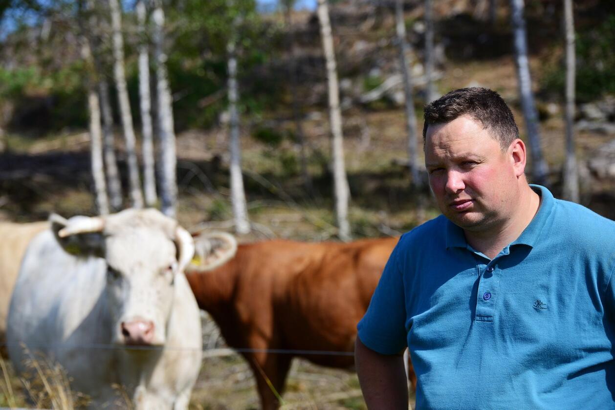 Bonde Tor Jacob Solberg er en av initiativtakerne bak bondeopprør-aksjonen som krever bedre inntekt til bøndene. Arkivfoto: Siri Juell Rasmussen