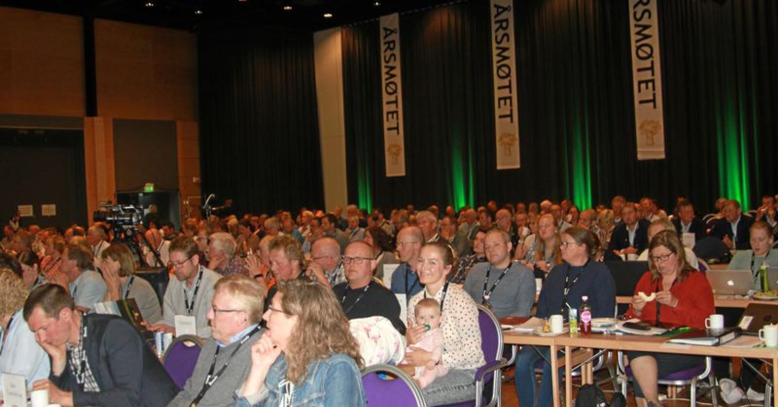 Representanter for Norges Bondelag er samlet på Lillehammer denne uka. Foto: Svein Egil Hatlevik