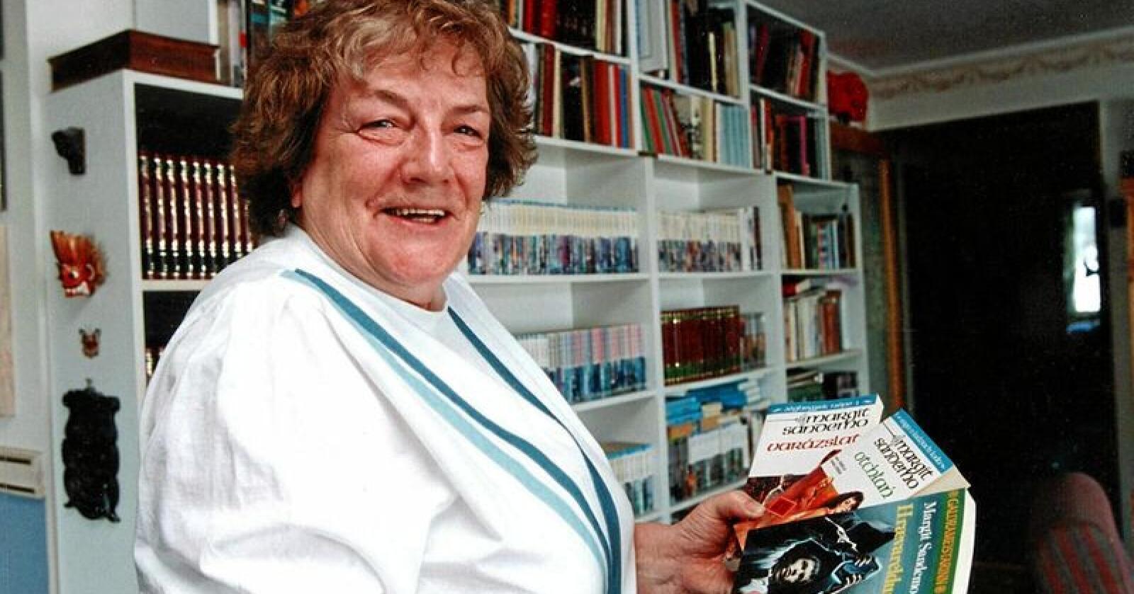 Frigjerar: Forfattaren Margit Sandemo har selt 37 millionar bøker. Særleg 1980-talets Sagaen om Isfolket har kvinner og seksuell frigjering fått god plass. Foto: Morten Hval / NTB scanpix