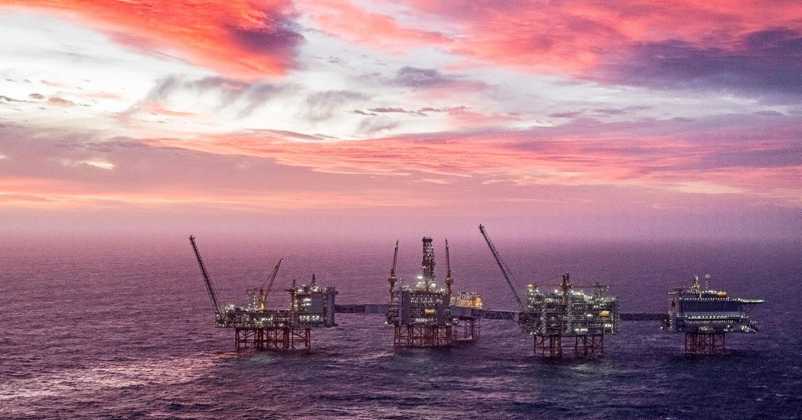 Olje: Johan Sverdrup opna i januar. Feltet er det tredje største oljefeltet på norsk sokkel. Foto: Carina Johansen / NTB scanpix
