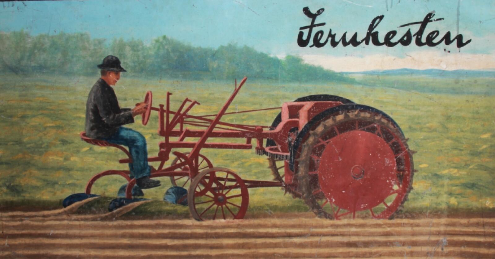 Jernhest: I 1917 startet Christian Eik salget av «Jernhesten» fra Moline Plow.