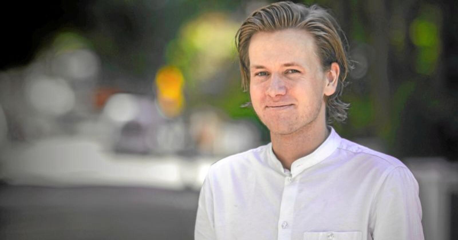 Unge Venstre leder Sondre Hansmark krever at pelsopprøret i Høyre og Frp må få konsekvenser for innstrammingene i abortloven. Foto: Unge Venstre