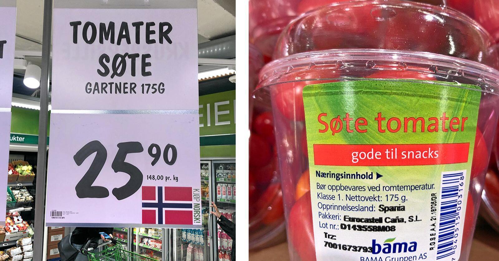 Forbruker reagerer på denne merkingen i butikken. Foto: Privat
