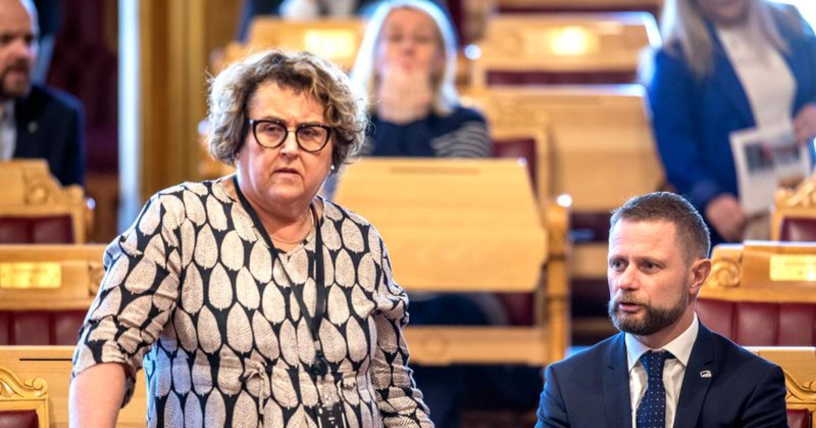 Landbruks- og matminister Olaug Bollestad under en spørretime i 2019. Foto: Ole Berg-Rusten / NTB Scanpix