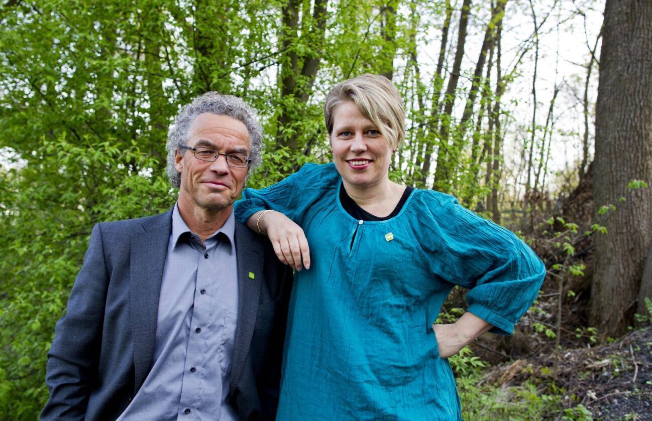 Hilde Opoku og Rasmus Hansson i Miljøpartiet De Grønne (MDG) vil ha med Venstre og KrF på en bred landbruksallianse i Stortinget.  Foto: Vegard Grøtt / NTB scanpix