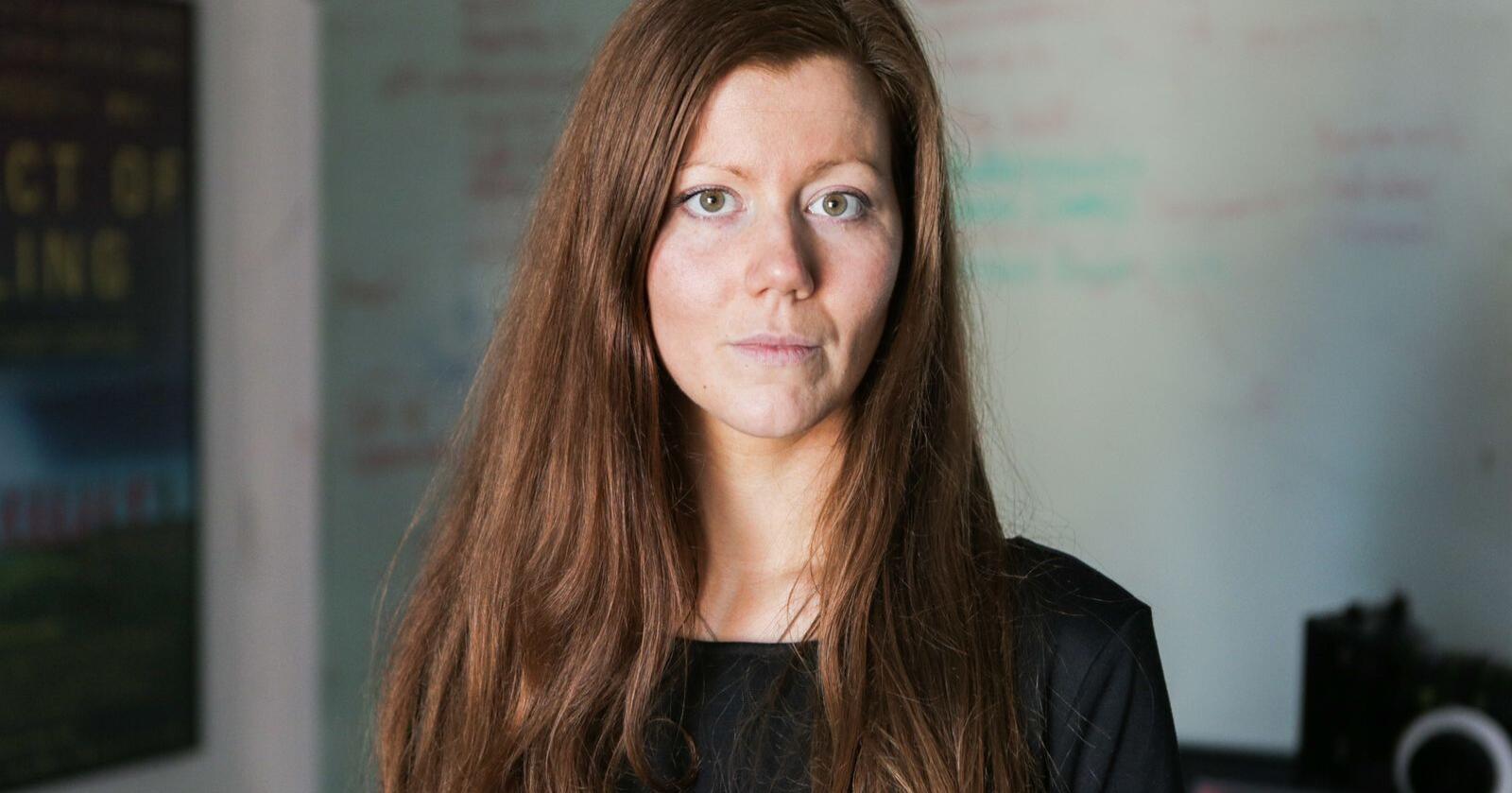 "Norun Haugen stod bak dokumentaren ""Griseindustriens hemmeligheter"". Foto: NRK"