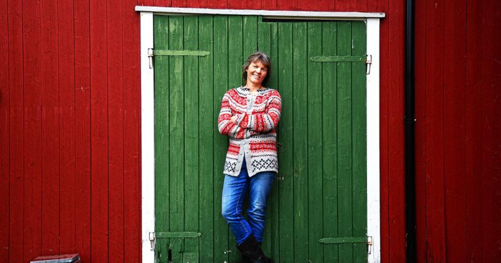 Kjersti Hoff, leder i Norsk Bonde-og Småbrukarlag. Foto: Siri Juell Rasmussen