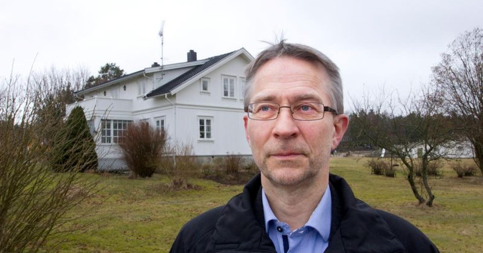 John Lilleborge er leder i Kornbøndenes Interesseorganisasjon. (Foto: Erik Wiggo Larsen/Demokraten)