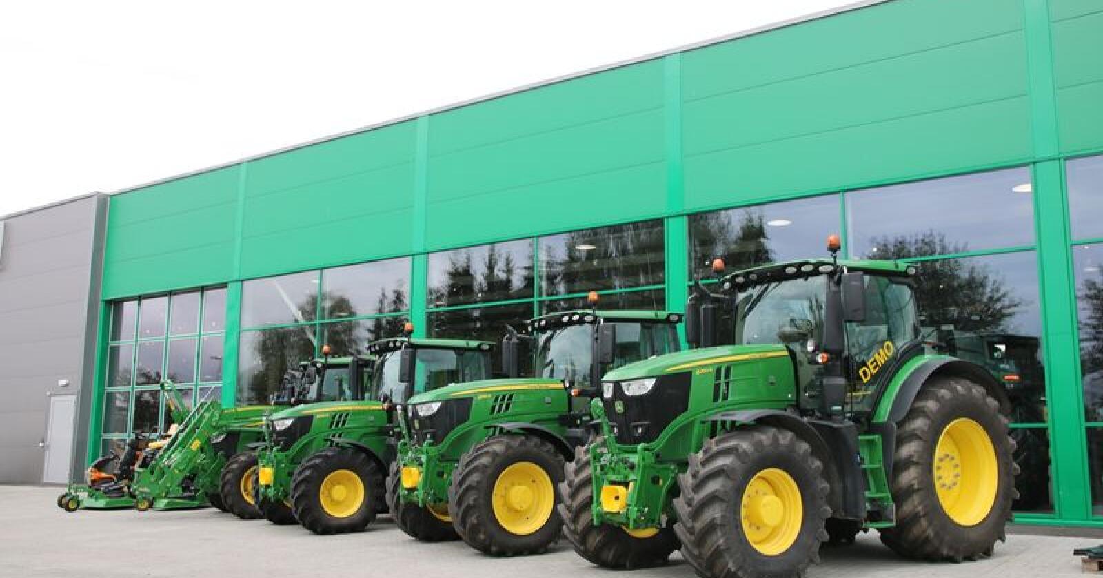 Det blir full corona-stopp på internatinale landbruksmesser for John Deere