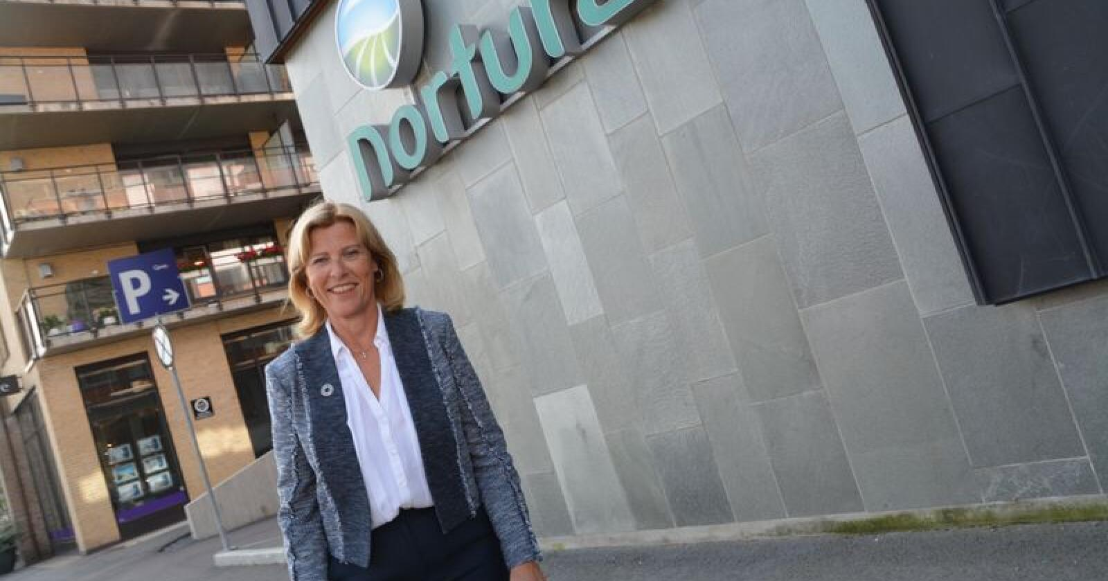 Sjef: Anne Marit Panengstuen er ny konsernsjef i Nortura. (Foto: Anders Sandbu)