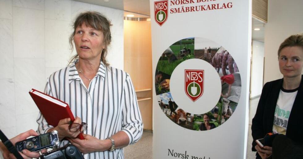 Kjersti Hoff, leder i Norsk Bonde- og Småbrukarlag, sier arbeidet med å analysere DNA fra norske ulver som medlemmer i fylkeslaget i Telemark har gjennomført er viktig. Foto: Bjarne Bekkeheien Aase